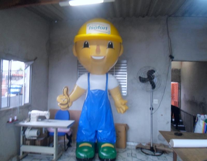 Mascote Inflável para Ação Promocional no Tremembé - Fábrica de Mascotes Infláveis