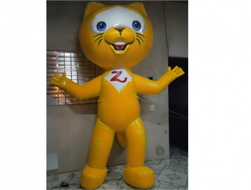 Mascotes Infláveis de Personagens para Eventos em Santa Isabel - Mascotes Big Inflável