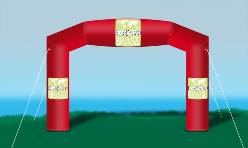 Portais Infláveis para Eventos Corporativos para Propaganda em Guararema - Pórtico Inflável Promocional