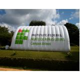 aluguel de túnel inflável para congresso em Cajamar