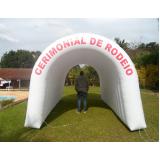 aluguel de túnel inflável para evento corporativo em Cajamar