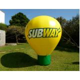 balão inflável roof top para propaganda no Bairro do Limão