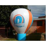 balão promocional inflável para propaganda em Jundiaí