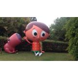 bonecos infláveis promocionais no Capão Redondo