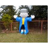 fábrica de mascotes infláveis são paulo para propaganda em Mogi das Cruzes