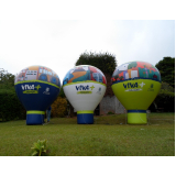 fabricante de balão inflável promocional no Alto de Pinheiros