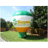 fabricante de balões infláveis propaganda em Rio Claro