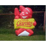 fabricante de mascote inflável para ação promocional em Araras