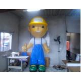 mascote inflável para ação promocional em Itaquaquecetuba