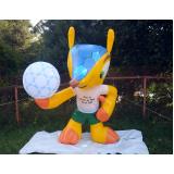mascote inflável para eventos na Luz