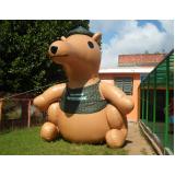 mascote inflável para propaganda no Campo Grande