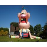 mascote inflável preco para eventos em Itapecerica da Serra