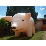 mascote inflável promocional para propaganda em Cachoeirinha