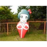 mascote joão bobo inflável para eventos em Poá