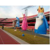 mascotes infláveis personalizados para propaganda em Piracicaba