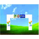 pórtico inflável promocional para eventos na Vila Sônia
