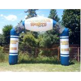 pórticos infláveis promocionais no Campo Belo