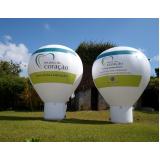 preço balão inflável promocional em Santo Amaro