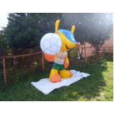 preço mascote inflável para ação promocional no Centro