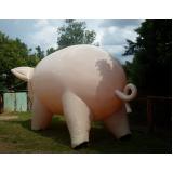 preço mascote inflável na Anália Franco