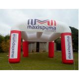 stand inflável gigante para propaganda em Santa Isabel