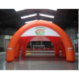 stand inflável promocional para eventos no Jardim América