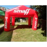 tendas infláveis preço para eventos no Sacomã