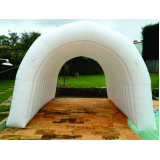 túneis infláveis para divulgação no Alto da Lapa