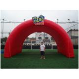 túnel inflável para campo de futebol preço em Taboão da Serra