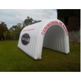 túnel inflável para divulgação no Campo Limpo