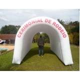 túnel inflável para feiras promocionais preço em Taboão da Serra